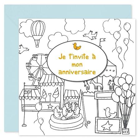 Jeux Et Jouets Chateau Popcarte 16 Cartes Dinvitation
