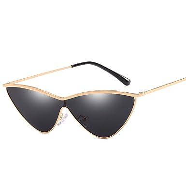 a889e52d2782 Small Triangle Sunglasses Women Black Shades Cat Eye Retro Eyewear Oculo  R66293