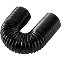 Firiodr Cold Air Intake Hose Tube Pipe Ducting Feed Pipe Flexible Black for Air Filter Car Accessories