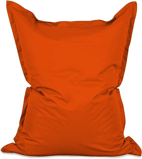 Imagen deLumaland PUF otomano Puff XXL 140 x 180 cm 380l con Relleno Innovador Maxi Puff Interior Exterior Naranja