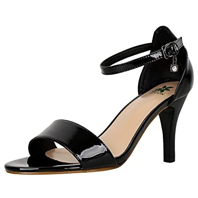 4th SEASON Women's Heel Sandals Open Toe Pump Dress Strappy Heels | Shoes