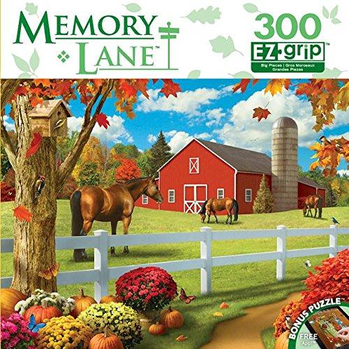 Masterpieces Memory Lane EZ Grip Book Box Rolling Pastures Puzzle (300 Piece)