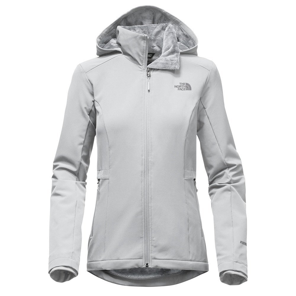 High Rise Grey The North Face Shelbe Raschel Hoodie Womens Soft Shell Jacket