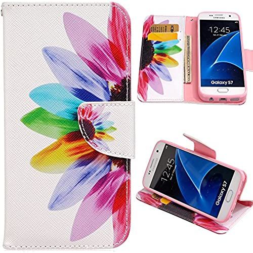 S7 Case, Galaxy S7 Case, Harryshell(TM) Sunflower Wallet Folio Leather Flip Case Cover with Card Holder for Samsung Sales