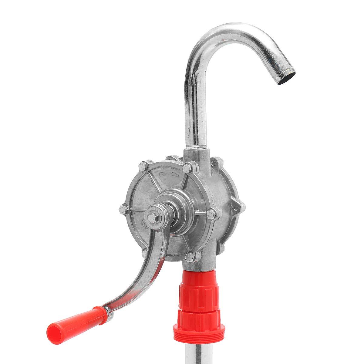 RanDal Bomba Manual Giratoria De Tambor Para Trabajo Pesado 22L / Min Nuevo Barril De Combustible De Aceite
