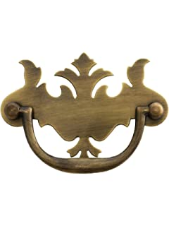 3 on center solid brass chippendale style bail pull in antique by hand antique hardware furniture pulls