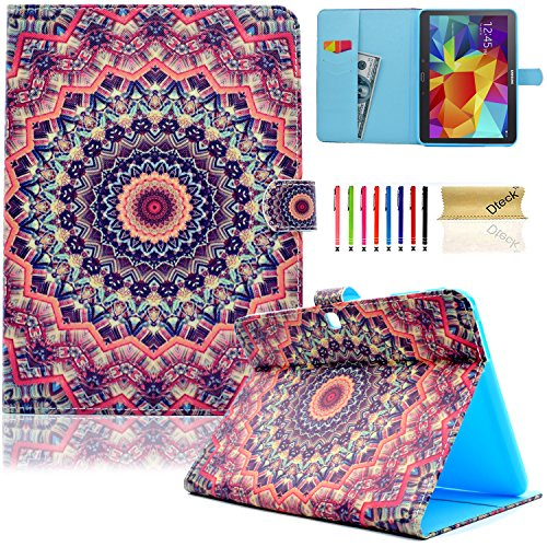 Galaxy Tab 4 10.1 Case,T530 Case,Dteck(TM) Slim Folio Stand Cover Case with Auto Wake/Sleep Feature Magnetic Smart Shell Case for Samsung Galaxy Tab 4 10.1 SM-T530NU T530 T531 T535,Colorful Circle (360 Color Nook Case)