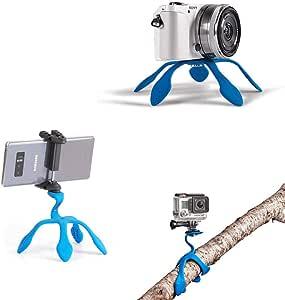 Miggo Splat Flexible Tripod 3N1 - Includes 3 Mounts for Smartphone, Compact Camera, and Action Camera - Load Capacity of 1.1 lb