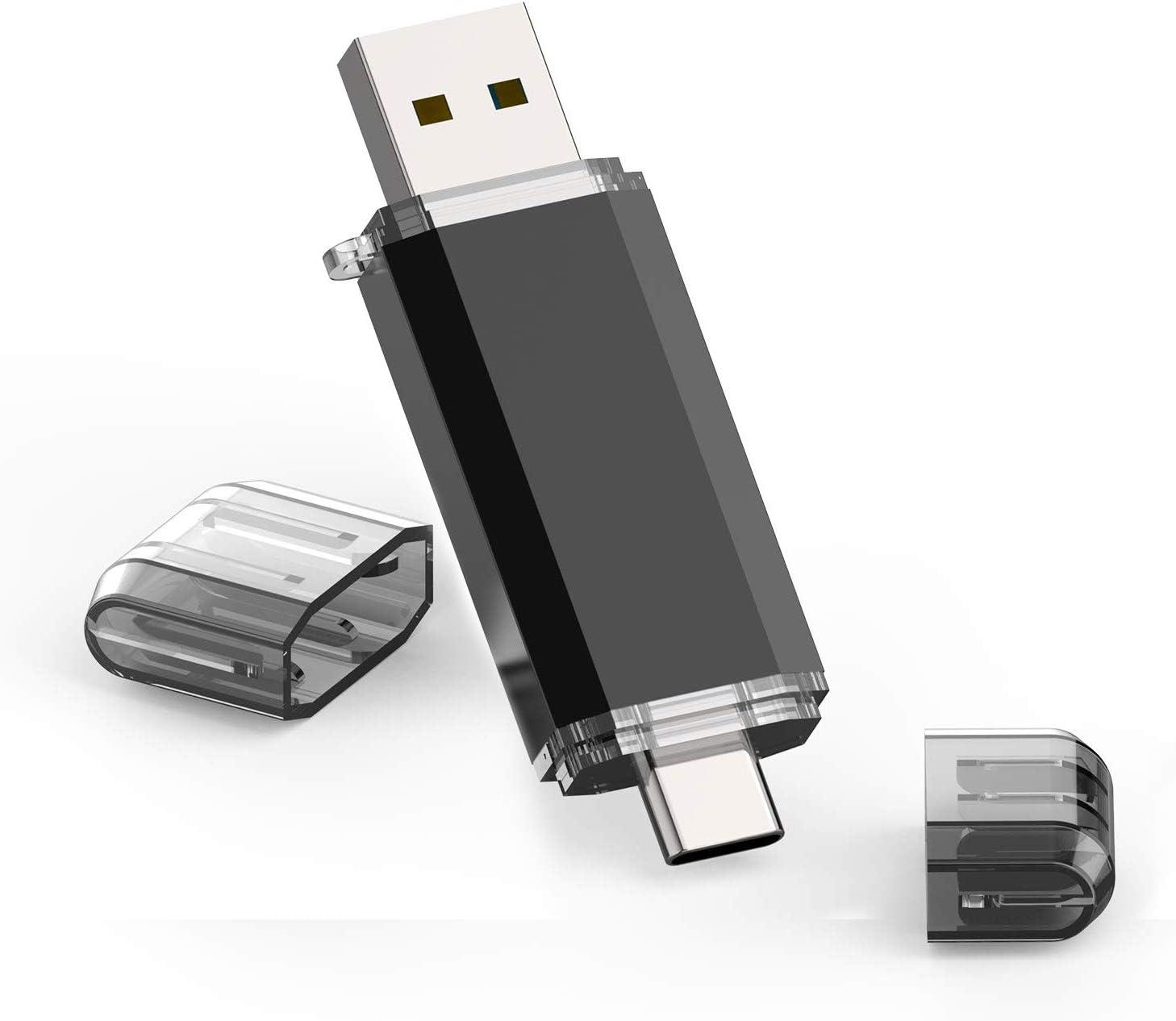 Color : Black External Storage USB Flash Drives 2 in 1 Pen Style USB Flash Disk Black USB Flash Drives 2GB