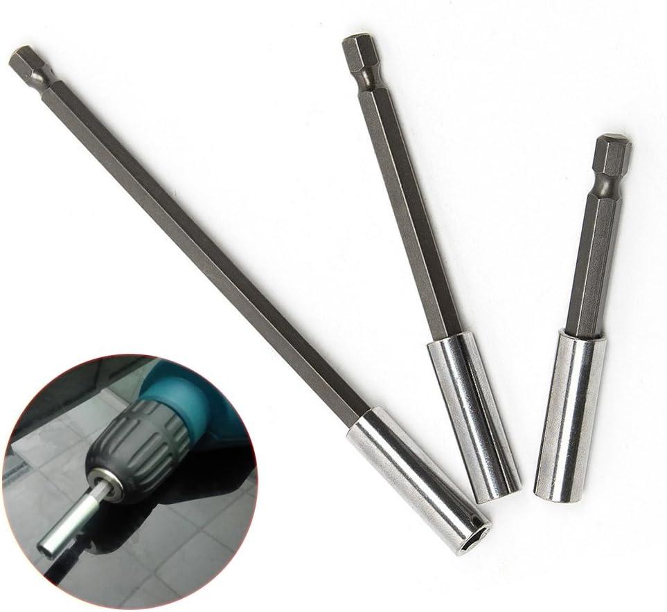 FORTAG 1Set (3 tlg 75/100/150 mm magnético de Destornillador portapuntas 1/4 Hex Set, garantía de por vida