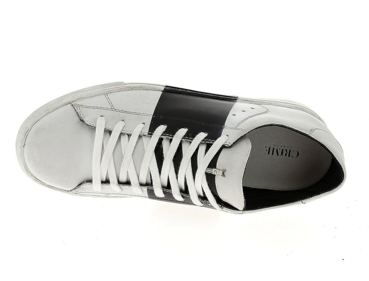 Crime modello 11040S16B scarpe uomo bianche e nere-43  Amazon.it  Scarpe e  borse 0da666ce019