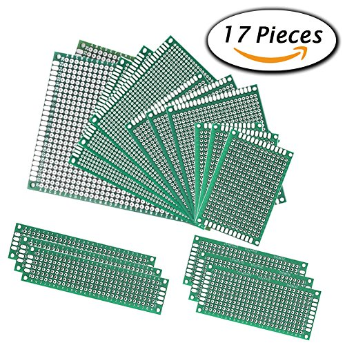 Amazon.com - 17pcs Double Sided PCB Board Prototype Kit for DIY, 6 Sizes