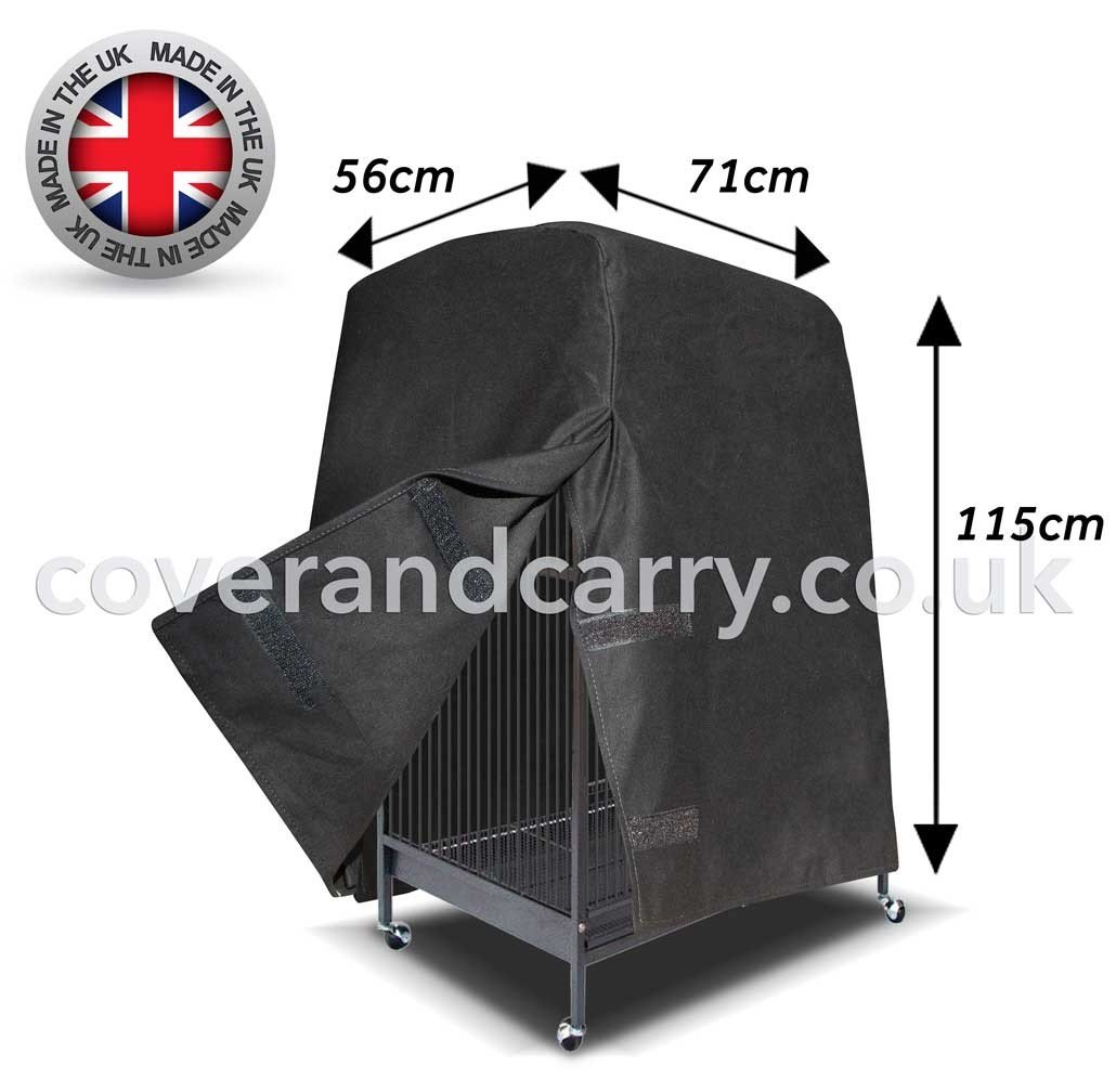 Luxury Bird Cage Cover. Varying Sizes (61 x 137 x 81) Made in the UK Full Blackout Cotton Coverandcarry