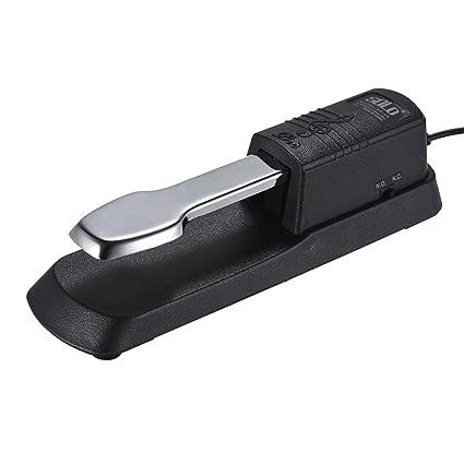 Muslady Pedal de Piano con Sostenimiento Pedal Amortiguador de Pie con Enchufe de 6.35 mm para