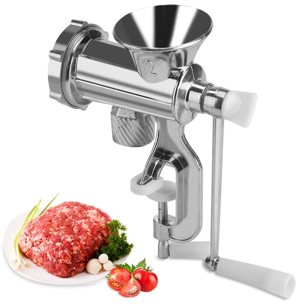 Manual Meat Grinder Hand Crank Chopper Mincer Sausage Maker Home Kitchen Tool Aluminum Alloy GLOGLOW