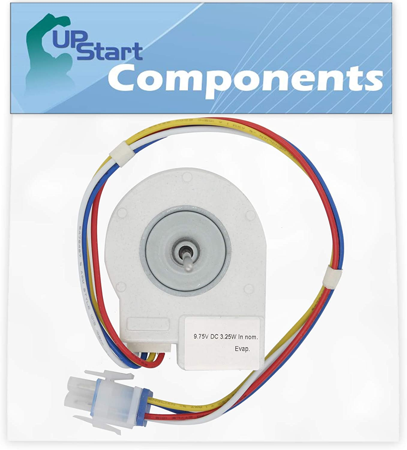 WR60X10185 Evaporator Fan Motor Replacement for General Electric Refrigerators - Compatible with Part Number AP3875639, 1170107, 197D2039P007, 197D2039P008, AH1019114, EA1019114, PS1019114