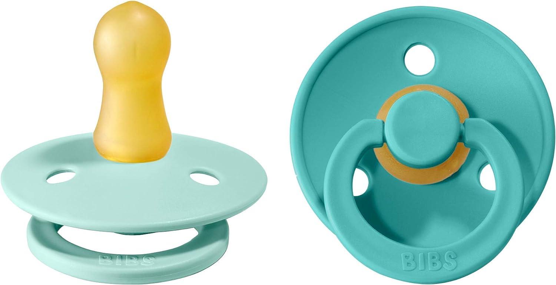 """Ciuccio /""""Colour/"""" di caucci/ù Bibs verde menta//turchese, misura 1, per 0-6 mesi confezione da 2 pezzi ciuccio danese a forma di ciliegia"""