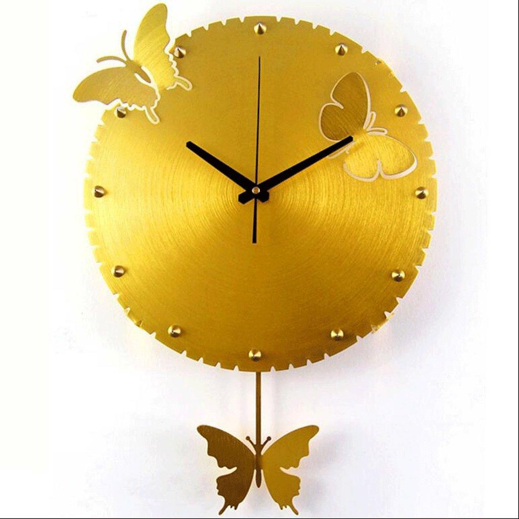 バタフライウォールクロックリビングルーム寝室クリエイティブミュートウォールクロック庭ファッション時計パーソナライズクロック GAODUZI B07FKL5W6Z