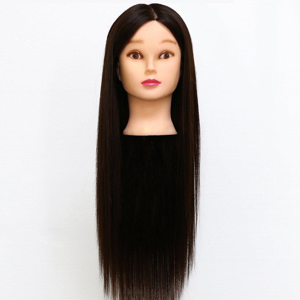 Neverland Professional - Testa di manichino per parrucchieri, con capelli veri e lunghi, per pratica professionale