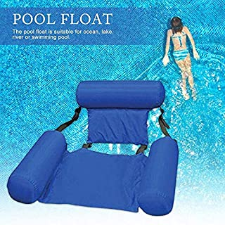 MandoPon Hammock Inflatable Pool Float Lounge Water Chair for Adults, Lake Swimming Floating Chair Pool Seats Lounger Portable Lazy Water Bed Lounge Chairs(1 Pcs)
