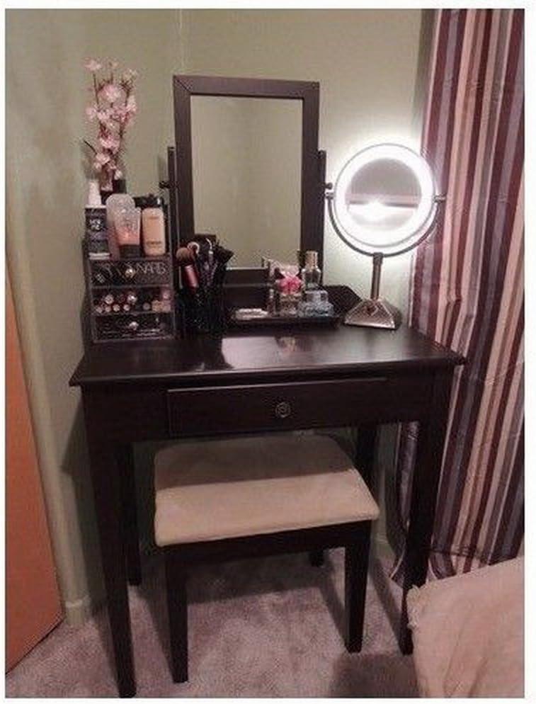 Amazon Com Vanity Table Set Mirror Stool Bedroom Furniture Dressing Tables Makeup Desk Gift Kitchen Dining