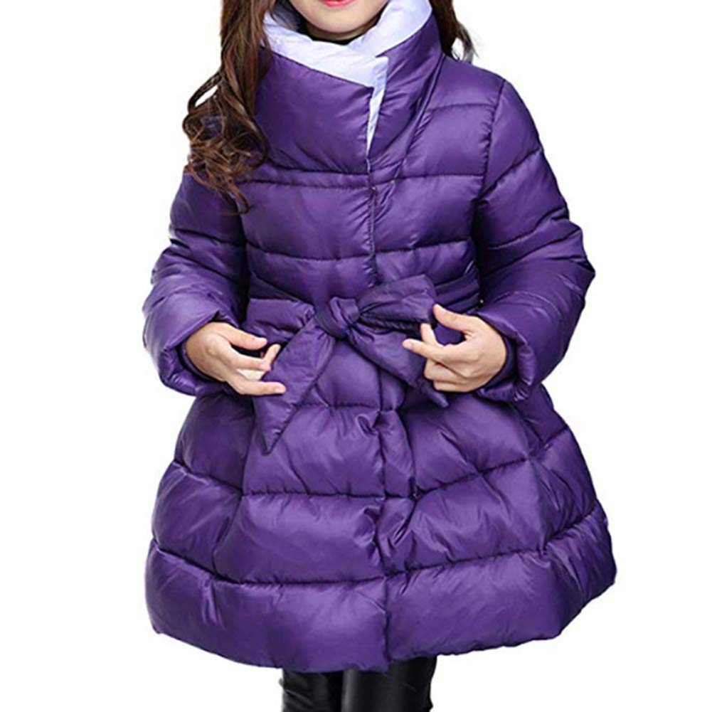 Digirlsor Toddler Kids Girls Winter Parka Coats Long Padded Lightweight Down Jacket Outerwear 3-14 Years