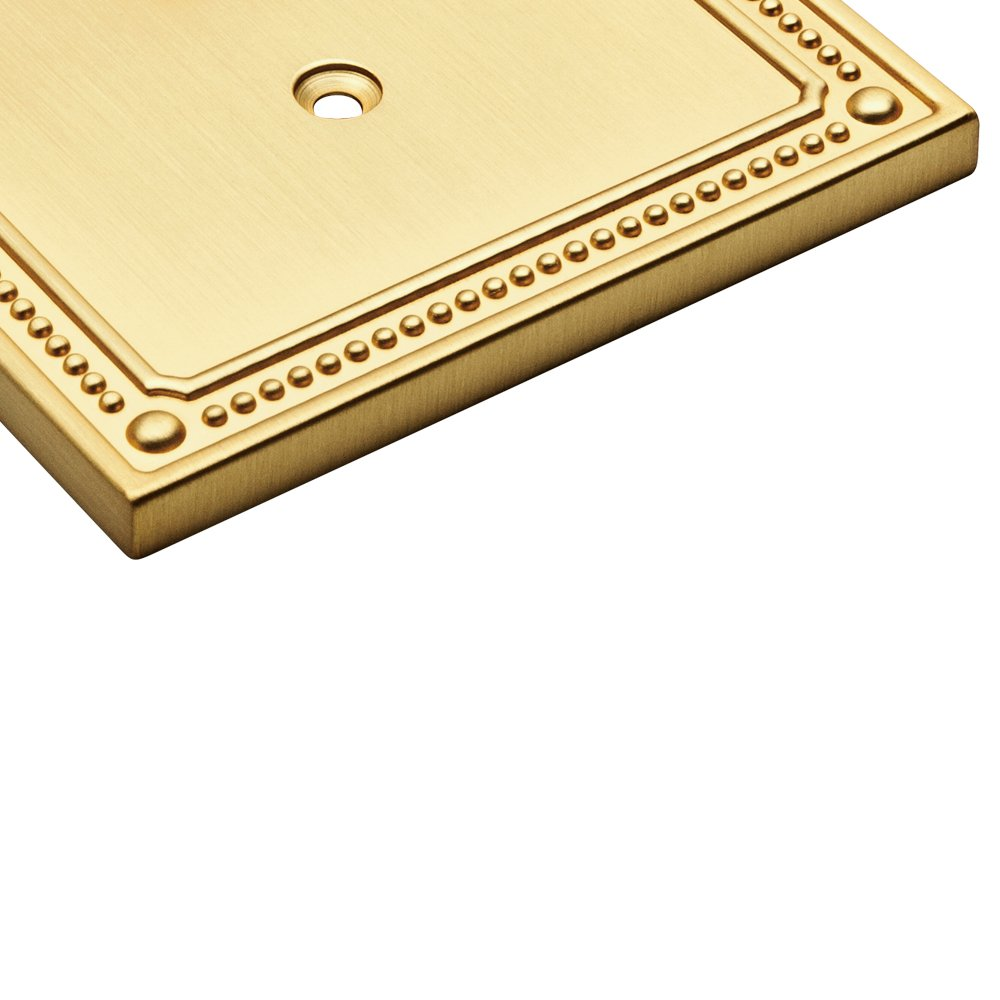 Franklin Brass W35059-PW-C Classic Beaded Single Duplex Wall Plate//Switch Plate//Cover White