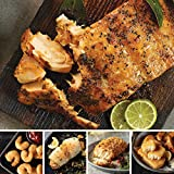 Omaha Steaks Grand Seafood Sampler (14-Piece with Marinated Salmon Fillets, Beer-Battered Shrimp, Stuffed Sole with Crab Meat And Scallops, Pub-Style Cod, And Haddock Fillets)