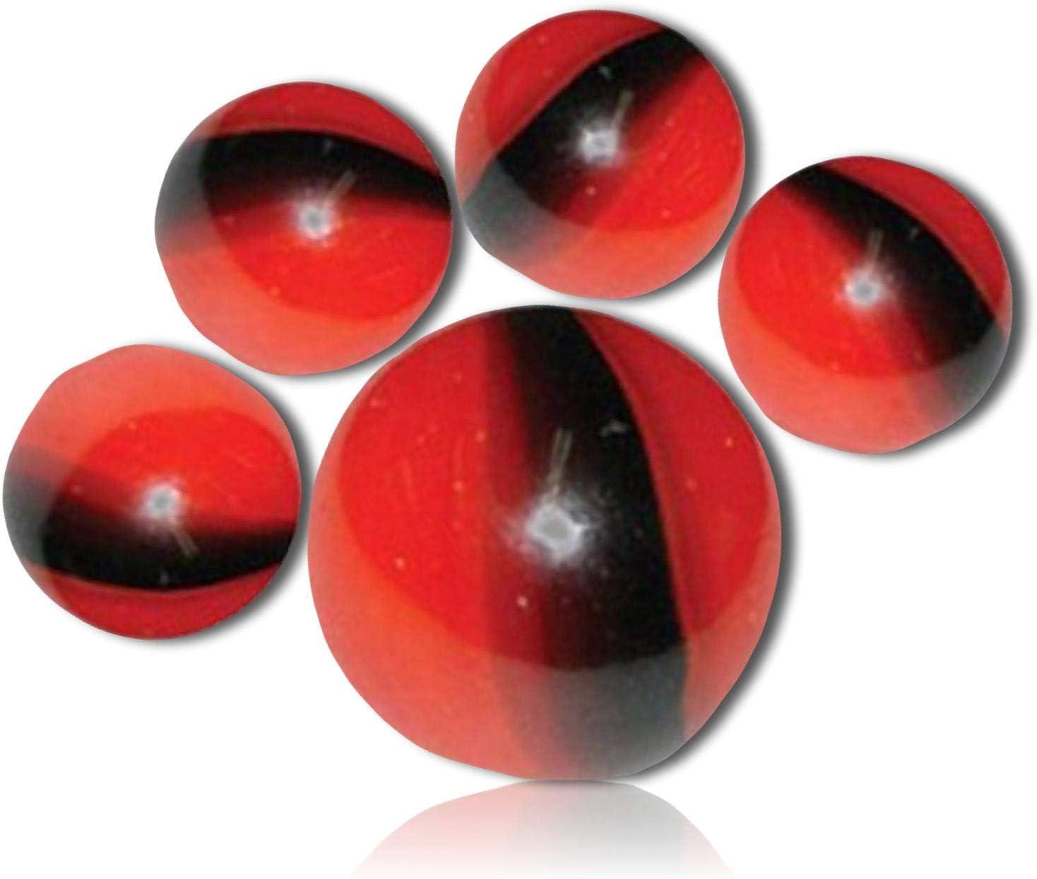 25 Glass Marbles ZEBRA Black//White Stripes game pack vtg style Shooter Swirl