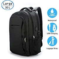 Laptop Backpack Zipper - Anti Theft Waterproof 15.6 Inch Laptop Backpack Case with USB Charging Port for Men & Women 15.6 inches black 6EQ21001