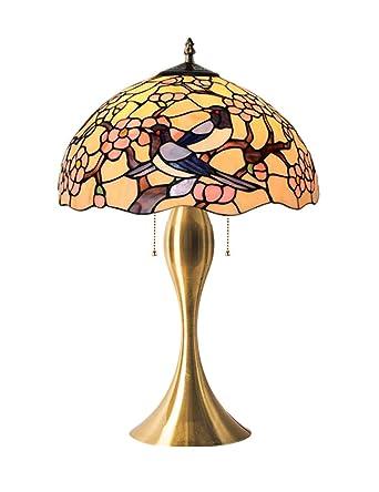 Echo Times 12-inch 2 Estilo Tiffany Lámpara de mesa Lámpara de ...