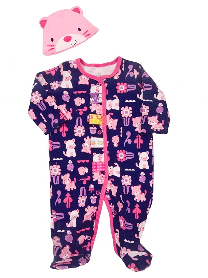 【あす楽対応】 Taggies Taggies Baby Girl 's Kitty Play Sleep N Girl Play Footieと帽子セットby Taggies 9 Months ネイビー B0145VM7MI, 時計館:f8548c82 --- a0267596.xsph.ru
