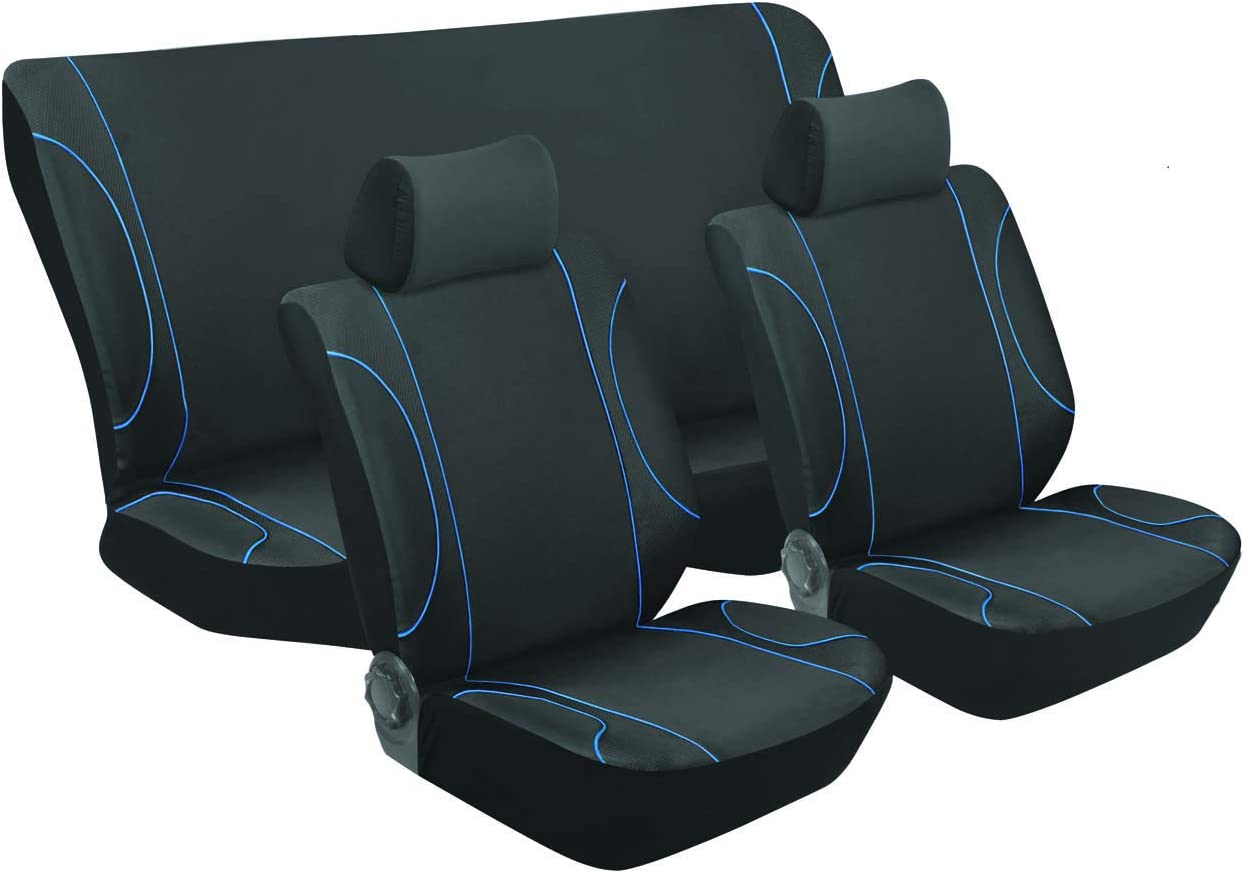 Monaco Cheap mail order shopping Black Blue Car Seat Set Protector Mail order cheap Interi Cover