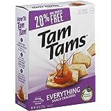 Manischewitz Everything Tam Tams Snack Cracker, 9.6 Ounce - 12 per case.