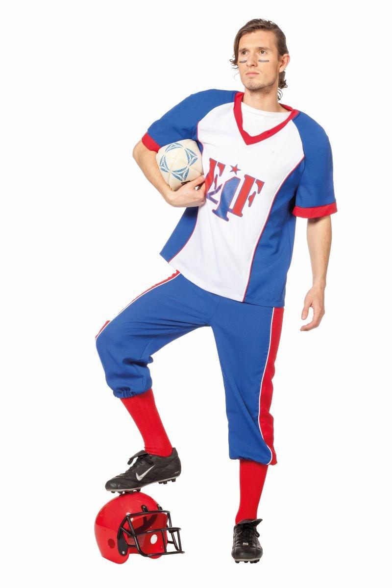 Herren Kostüm American Football Spieler Karneval Fasching Gr.54