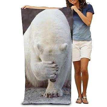 Unisex toalla de toallas de baño de osos oso polar manta máxima suavidad y absorbencia para Hotel de lujo y Spa: Amazon.es: Hogar