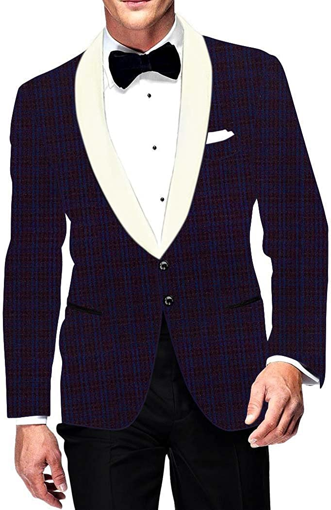 INMONARCH Mens Slim fit Casual Regency Blazer Sport Jacket Coat Two Button Checks SB15678