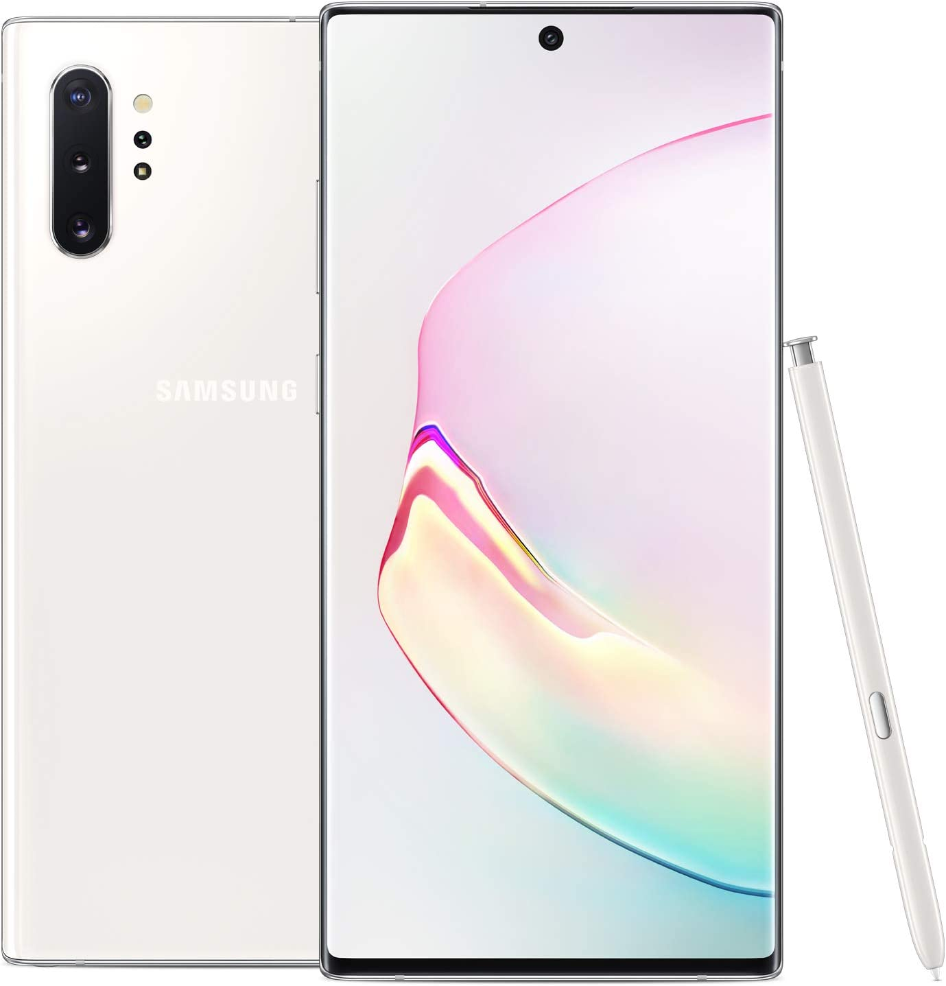 Amazon Com Samsung Galaxy Note 10 Plus Factory Unlocked Cell Phone With 256gb U S Warranty Aura White Note10