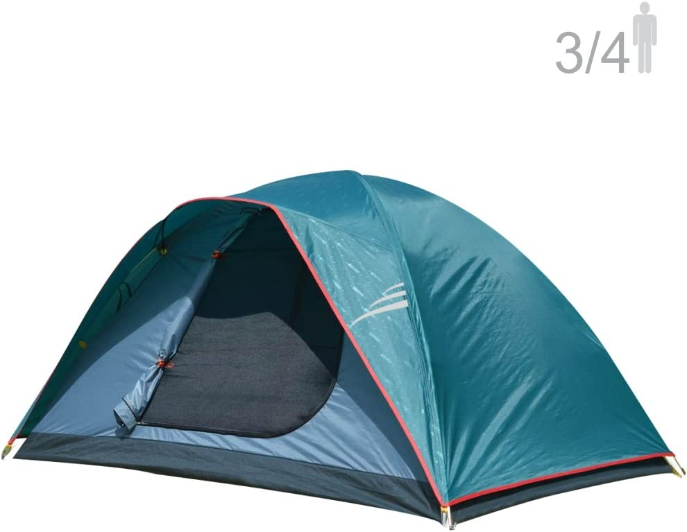 NTK Oregon GT 3 to 4 Person 7 to 7 Person Foot Outdoor Dome Family Camping Tent 100 Waterproof 2500mm, Easy Assembly, Durable Fabric Full Coverage Rainfly, Micro Mosquito Mesh