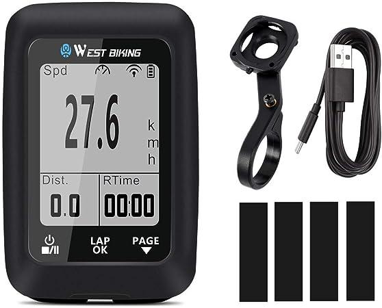 Walory Bicicleta GPS - GPS Bicicleta Computadora Velocímetro ...