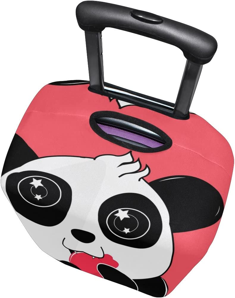 LEISISI Cute Panda Luggage Cover Elastic Protector Fits XL 29-32 inch Suitcase