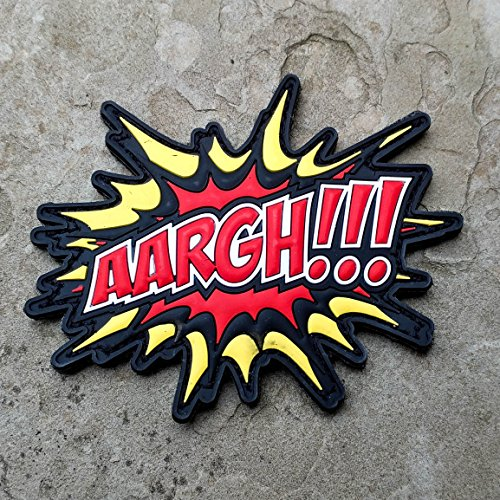 Comic Book Bubbles PVC Rubber Tactical Morale Patch - Hook Backed by NEO Tactical Gear - AARGH!!!