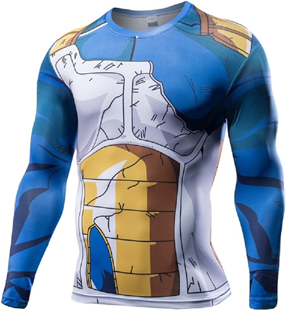 SevenJuly1 Men's 3D Compression Shirt Cosplay Compression T-Shirt Muscle Top Tee