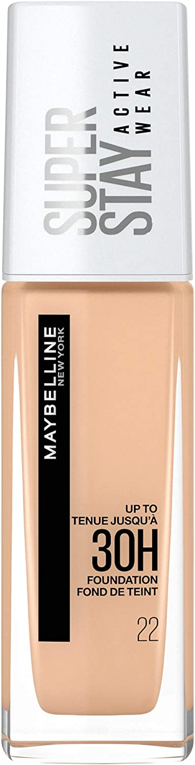 Maybelline New York Maybelline Superstay Activewear 30H Base De Maquillaje, Tono 22 Light Basque 120 g