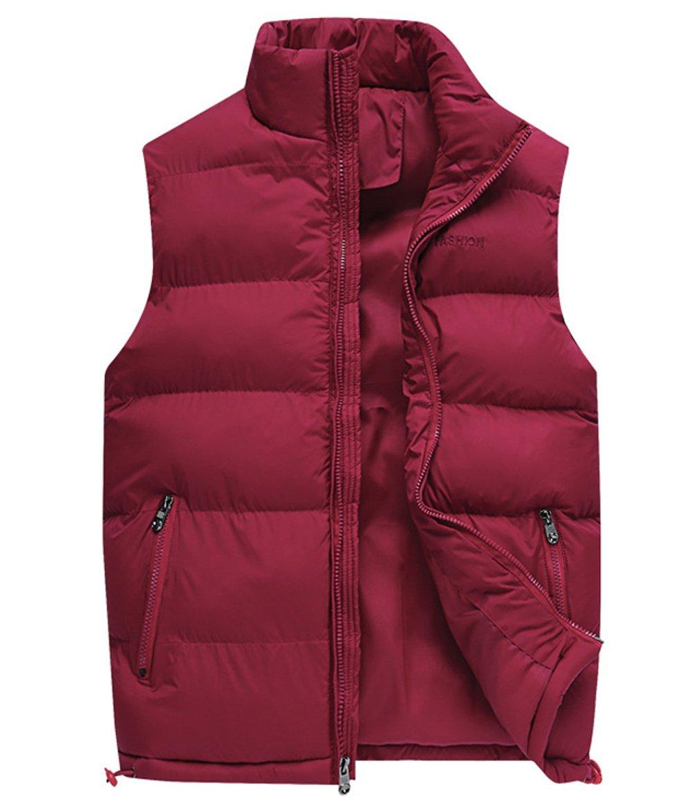 Kedera Men's Packable Stand Collar Puffer Down Vest Sleeveless Lightweight Jacket