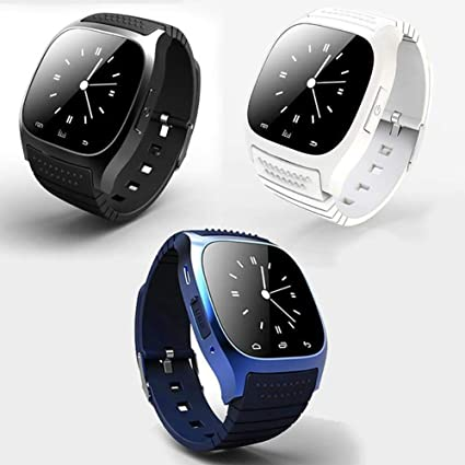 Amazon.com: omyyf Smart Watch Bluetooth Android SMS Alarm ...