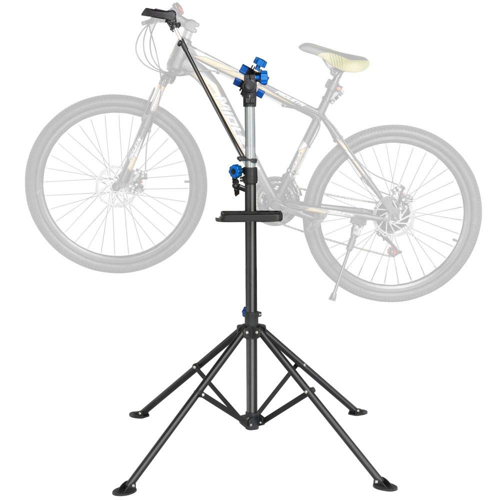 Yaheetech Adjustable 52'' to 75'' Pro Bike Repair Stand w/Telescopic Arm & Balancing Pole Cycle Bicycle Rack by Yaheetech