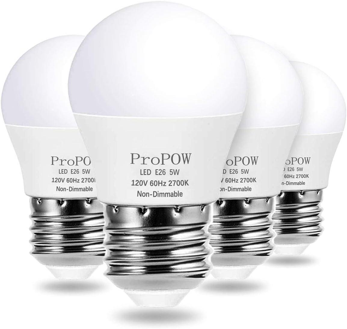 A10 LED Bulb 10 Watt Equivalent, ProPOW 10W LED Light Bulbs, Soft White  10K Energy Saving Low Watt Light Bulbs,E10 Base Bulb for Home Bedroom(10  Pack)