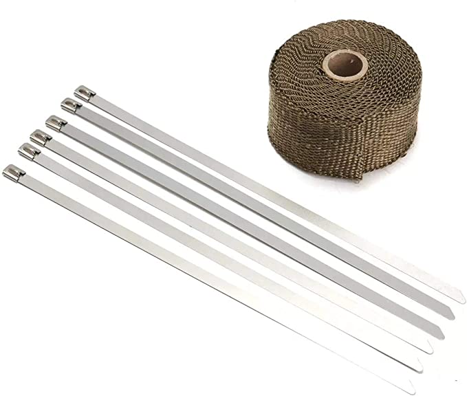 Starke Band Isolierung Bandage Bandrolle-5M Abgasw/ärme-Verpackungs-Manifold Downpipe High Temp