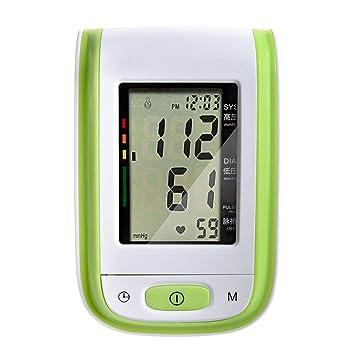 Tochange automático Inteligente Tensiómetro Monitor LCD esfigmomanómetro Digital con función Voz Personas Mayores Salud Regalo de Salud, Verde: Amazon.es: ...